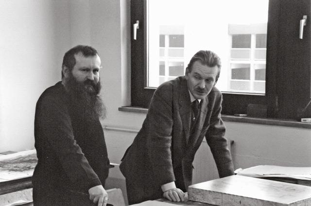 Hermann Nitsch und Fred Jahn