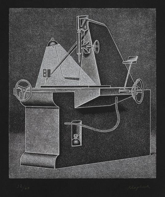 Konrad Klapheck, Die Supermutter, 1977, Radierung