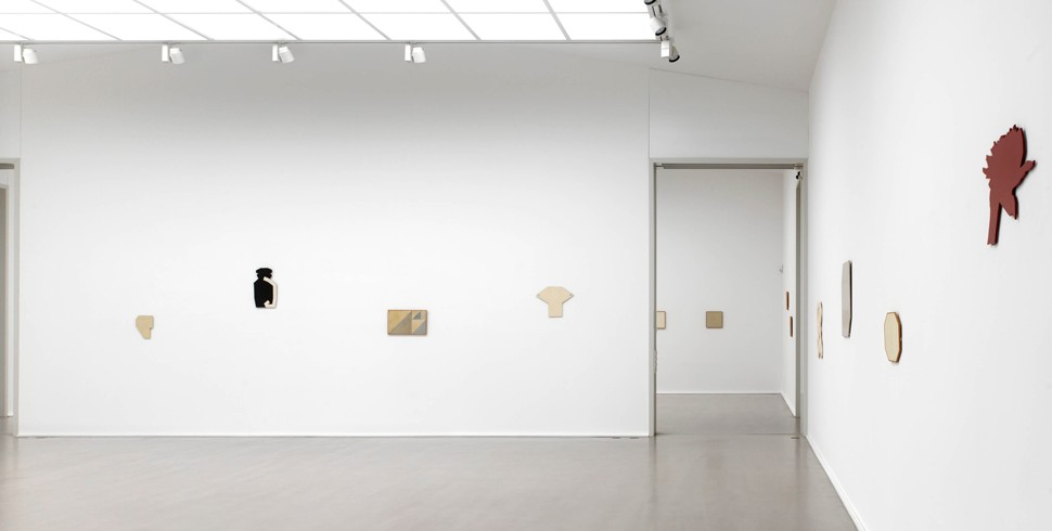 2016 Galerie_Schoenewald_Heinz Butz_Paintings_Bildobjekt_shaped canvas